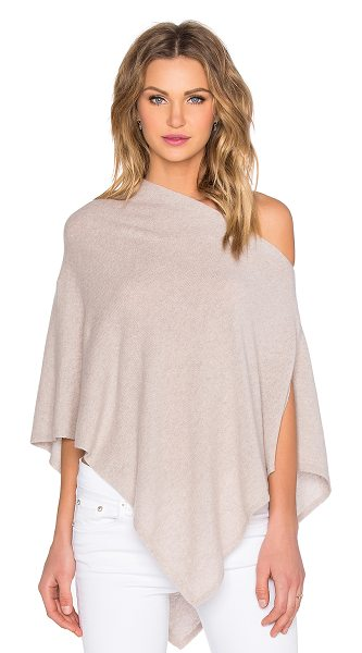 Autumn Cashmere Cropped Poncho in tan - 100% cashmere. Dry clean only. AUTU-WK497. R9617. Autumn...
