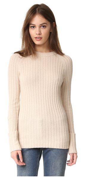 AUTUMN CASHMERE ribbed cuffed sweater - A formfitting Autumn Cashmere sweater, styled with...