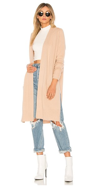 Autumn Cashmere X REVOLVE Maxi Open Cardigan in cream - 100% pure cashmere. Dry clean only. Knit fabric. Side...
