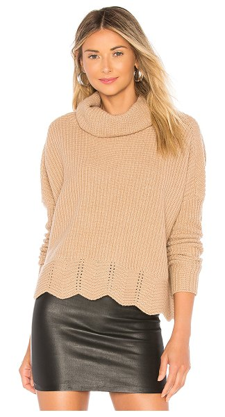 Autumn Cashmere Zig Zag Shaker Sweater in tan - 30% cashmere 30% viscose 20% polyamide 20% wool. Dry...