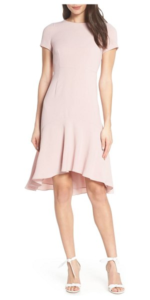 04f577eab54 AVEC LES FILLES high low sheath dress in pink - Fitted to just the below
