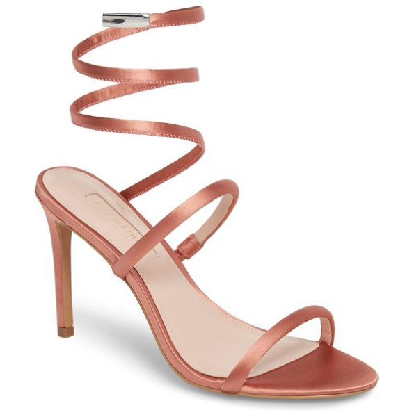 AVEC LES FILLES joia ankle wrap sandal in dusty rose fabric