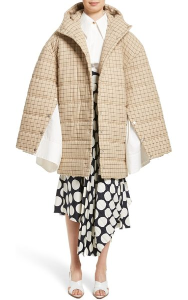 A.W.A.K.E. check puffer coat - Classic checks cover a cozy puffer jacket made fresh and...