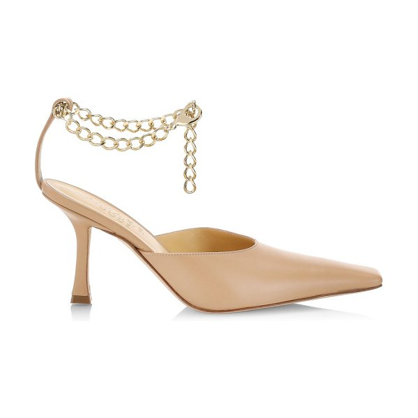 A.W.A.K.E. Mode lucrezia ankle-chain leather pumps in nude