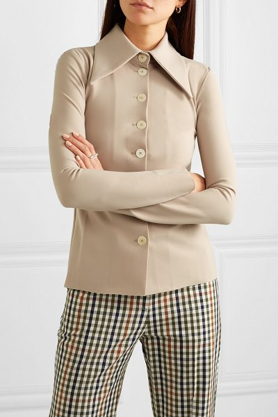 A.W.A.K.E. stretch-crepe shirt in beige - A.W.A.K.E.'s Resort '19 collection feels really fresh...