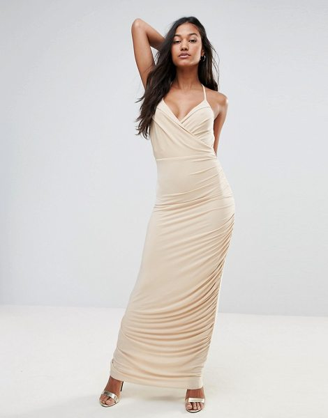 "Ax Paris Ax Paris Maxi Cami Dress in beige - """"Maxi dress by AX Paris, Slinky stretch fabric, Fully..."