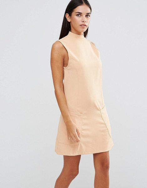 "Ax Paris High Neck Shift Dress With Pockets in pink - """"Dress by AX Paris, Stretch knitted fabric, High..."