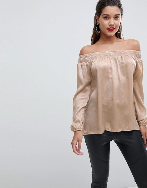 Ax Paris off the shoulder top in stone - Top by AX Paris, Some days call for a little extra,...