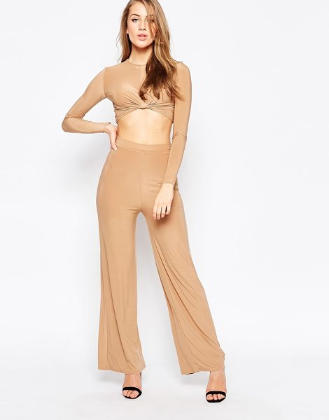 Ax Paris Pant Suit in Slinky in beige - Pant set by AX Paris, Smooth, slinky fabric, Two piece...