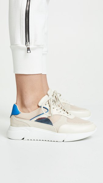 Axel Arigato genesis sneakers in beige/grey/blue
