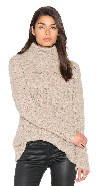 AYNI Amaya Turtleneck Sweater in beige - Cashmere blend. Hand wash cold. Textured pill knit...