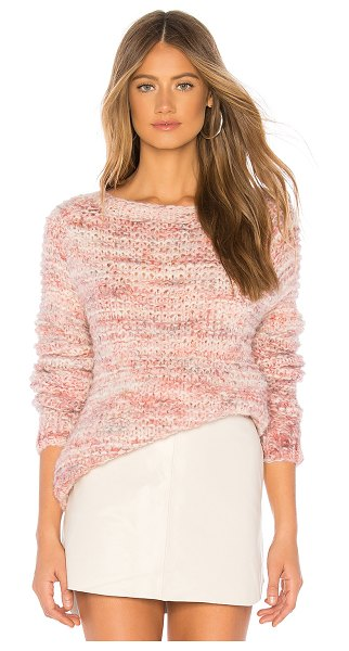 AYNI Isla Oversized Sweater in pink - 89% alpaca 11% polyamide. Hand wash cold. Open knit...
