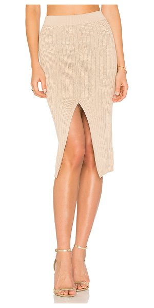 """AYNI Phuket Midi Skirt in tan - """"Cotton blend. Hand wash cold. Unlined. Elasticized..."""
