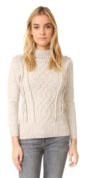 AYR the louisiana sweater - A fixed, fold over turtleneck collar lends a cozy feel...