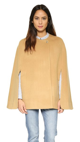 AYR The camel cloak coat - Paneled construction shapes the shoulders of this...