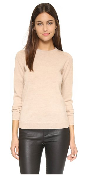 AYR The french girl sweater in heather camel - A classic AYR sweater composed of soft wool and accented...