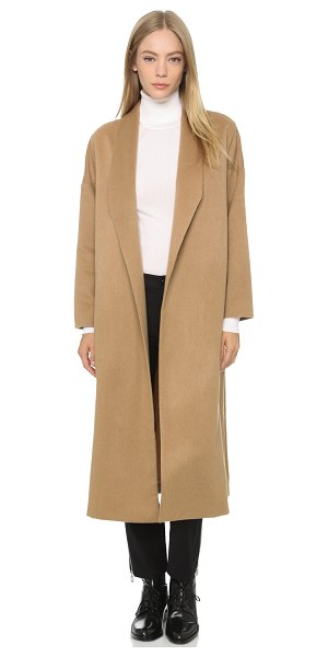 AYR The robe coat in camel - A timeless AYR coat styled in soft wool felt. Lapels...