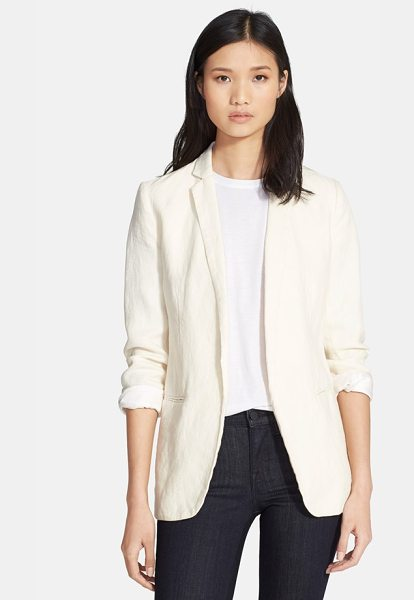 AYR the rumpled linen blazer in biscuit - Add the breezy sophistication that only linen can...