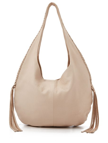 B-LOW THE BELT Maddie hobo in bone
