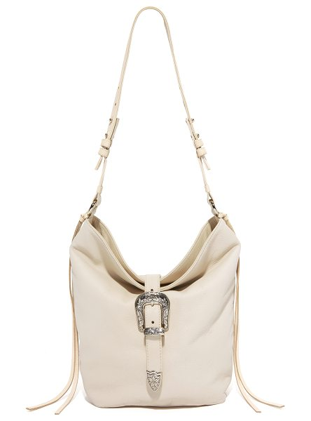 B-LOW THE BELT B-Low The Belt Nashville Shoulder Bag in bone - An etched buckle details the fold over top of this...