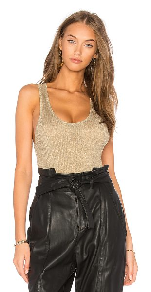 ba&sh Halny Top in gold - Rayon blend. Dry clean only. Rib knit fabric with...