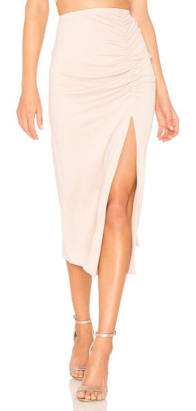"Backstage Avalon Skirt in blush - ""65% modal 35% poly. Hand wash cold. Elasticized waist...."