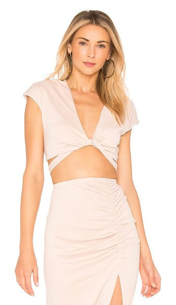 Backstage Avalon Top in blush - 65% modal 35% poly. Hand wash cold. Wrap design with tie...
