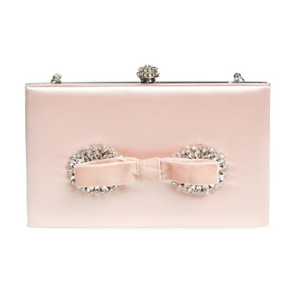 BADGLEY MISCHKA autumn clutch - A velvet bow and shimmering crystals add unmistakable...