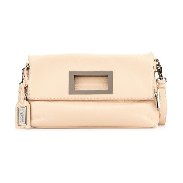 Badgley Mischka Brynn leather crossbody bag in latte