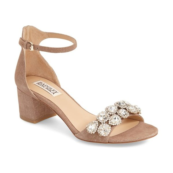 Badgley Mischka clove evening sandal in cocoa brown