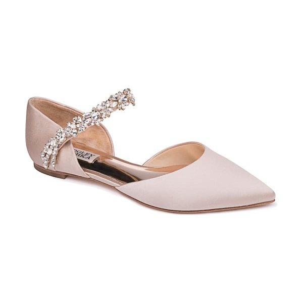 Badgley Mischka Collection badgley mischka erin embellished flat in beige
