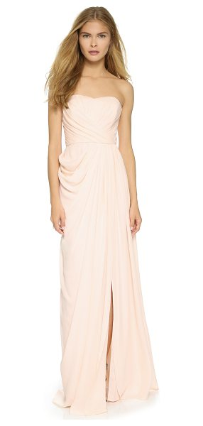 BADGLEY MISCHKA COLLECTION Bustier gown - A pleated Badgley Mischka Collection dress, styled with...