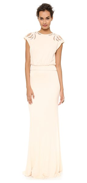 BADGLEY MISCHKA COLLECTION Keyhole gown - This Badgley Mischka Collection gown has sheer mesh...