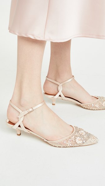Badgley Mischka iris kitten heel pumps in soft nude