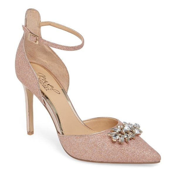 Badgley Mischka lea ii d'orsay pump in rose gold leather - Step out in scene-stealing style with this...