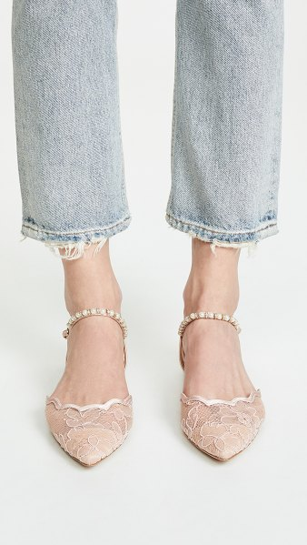 a658c0ab86 Badgley Mischka lennon ankle strap flats in soft blush/nude