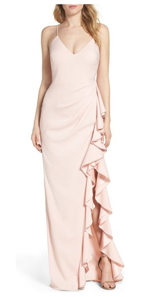 Badgley Mischka ruffle gown in rosette - A stunning gown is at once quintessentially romantic and...