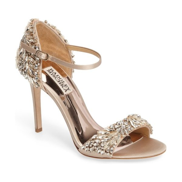 Badgley Mischka badgley mischka tampa ankle strap sandal in beige