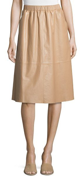 BAGATELLE Full midi leather skirt - Bagatelle leather skirt with patchwork stitching....
