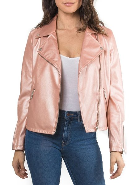 BAGATELLE metallic faux leather biker jacket - Rock a brighter version of the classic biker jacket in this...