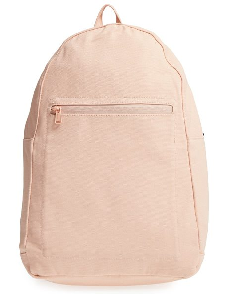 BAGGU canvas backpack in shell - A go-to backpack made from 16-oz. recycled cotton canvas...