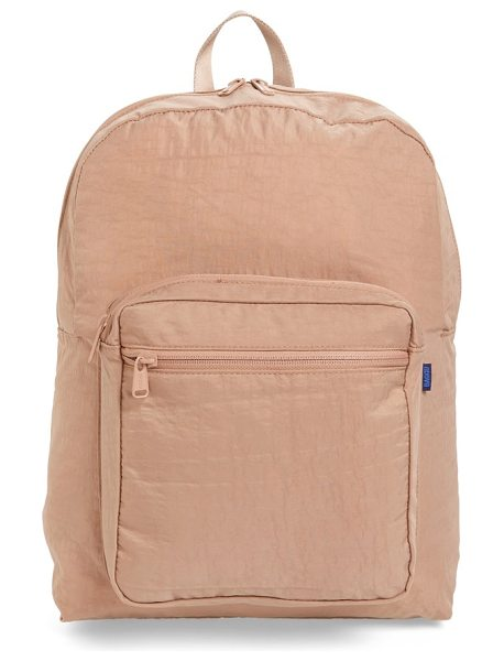 BAGGU nylon backpack in fawn - Perfect for overnight getaways or commuting to work or...