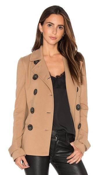 Bailey 44 Coven Jacket in tan - Cotton blend. Dry clean only. Button front closures....