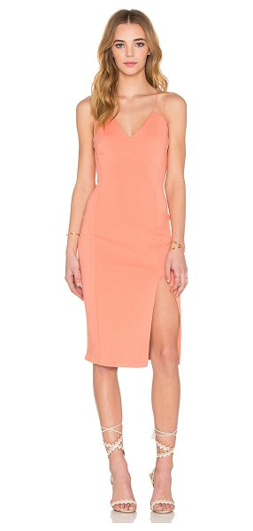 Bailey 44 Cragside Dress in peach - Cotton blend. Hand wash cold. Fully lined. Side slit....