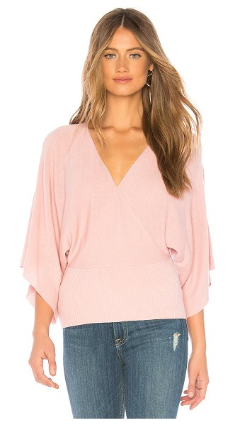 Bailey 44 Eye In The Sky Sweater in pink - Viscose blend. Dry clean only. Rib knit fabric. Surplice...