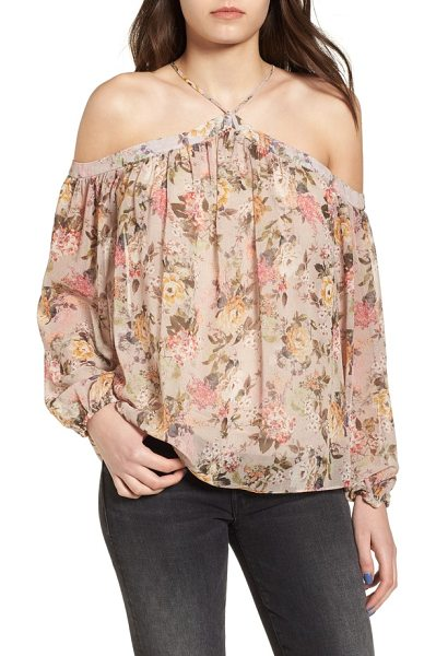 Bailey 44 inamorata blouse in blush - Satisfy your craving for fresh flowers with this floaty...