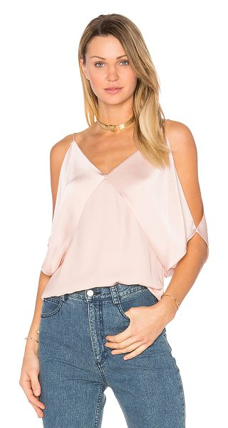 BAILEY 44 Kate Top - 100% poly. Dry clean only. Cold shoulder cut-outs....