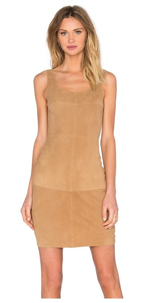 Bailey 44 Nomad dress in tan - Poly blend. Fully lined. Faux suede front panel with...