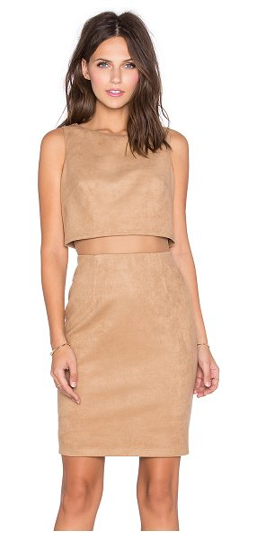 Bailey 44 Perry dress in tan - Self: 88% poly 12% spandexCombo: 100% nylonLining: 100%...