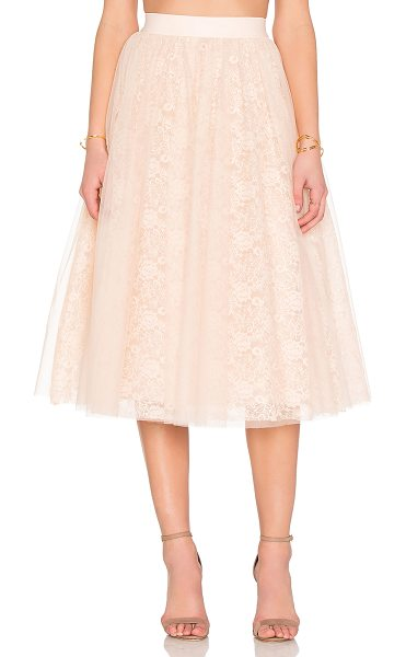 Bailey 44 Shrubbery skirt in blush - Nylon blend. Hand wash cold. Fully lined. Elastic waist....